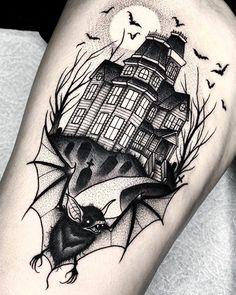 Life Tattoos, Body Art Tattoos, Sleeve Tattoos, Foot Tattoos, Flower Tattoos, Unique Tattoos, Beautiful Tattoos, Gotik Tattoo, Haunted House Tattoo