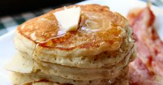 These make an incredibly fluffy, moist and tasty  pancake with a taste similar to sourdough pancakes. Makes about nine 4  inch pancakes.  ...