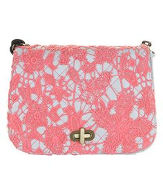 Love this Neon Coral Vivienne Crossbody Bag by Darling o - OMG!  One of the prettiest bags I own!