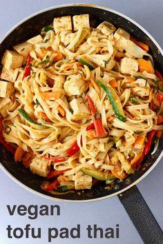 This Vegan Tofu Pad Thai is so easy to make, super versatile and perfect for quick weeknight dinners! Vegetarian, gluten-free, dairy-free and refined sugar free. #vegan #vegetarian #rhiansrecipes #tofu #dairyfree #glutenfree
