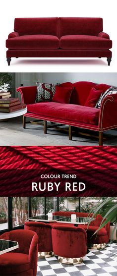 Interior Inspiration   Ruby Red | Add Some Energy And Passion To Your  Lounge With A Splash Of Gorgeous Ruby Red. Choose A Deep Red Sofa Or Chair  To Make A ...