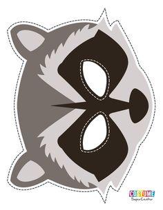 Raccoon Mask Printable Guardians Of the Galaxy Booth Raccoon Craft, Raccoon Mask, Cute Raccoon, Raccoon Drawing, Raccoon Tattoo, Rocket Raccoon Costume, Raccoon Repellent, Raccoon Illustration, Elementary Art
