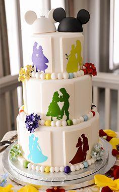 Wedding Cake Wednesday: Dancing Disney SilhouettesEver After Blog | Disney Fairy Tale Weddings and Honeymoon