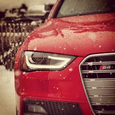 Those Unmistakeable Eyes... #audi #audis4 #audigram #audilove #quattro #fourrings #leds #winter #snow