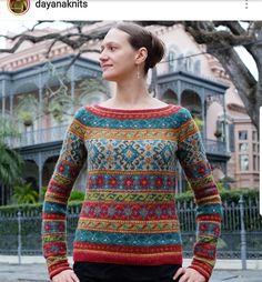 Anatolia pattern by Marie Wallin beautiful knitted by @dayanaknits on Instagram