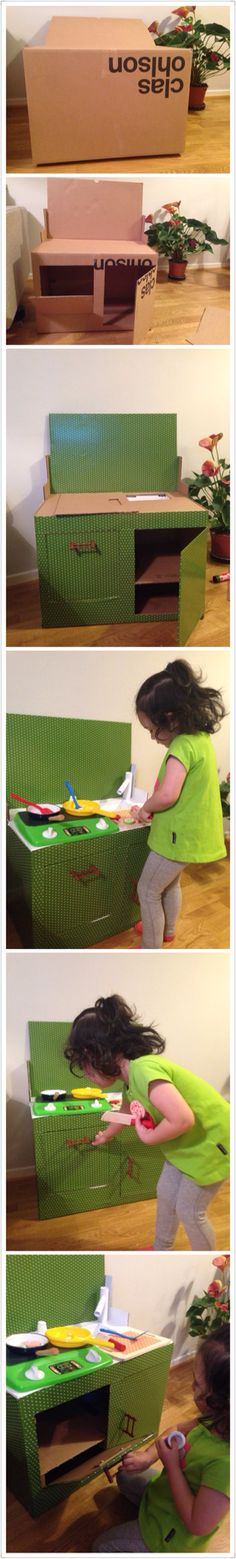Diy kitchen for my little girl.
