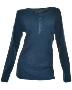 Eddie Bauer Womens Thermal Crew Shirt...best thermals ever, awesome color