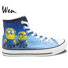 Blue High Canvas Shoes For Women Ko