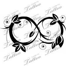 Floral infinity tattoo