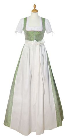 Brautdirndl Amelie lang pastellgrün