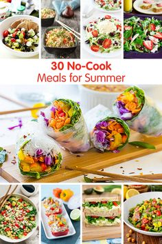 30 No-Cook Meals for Summer! Don't heat up the kitchen, these no-cook recipes are easy to throw together on hot summer days! Hot Day Dinners, Cold Meals, Easy Summer Salads, Summer Recipes, Summer Dishes, Betty Crocker, Cold Dinner Ideas, Lunch Ideas, Meal Ideas