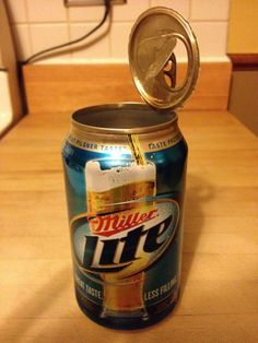 Miller Lite Punch Top Can, Version - Dirty Beer Hole Cheap Beer, Miller Lite, Root Beer, Punch, Drinking, Canning, Google, Top, Beverage