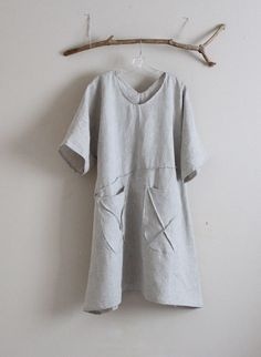 running with lines pure linen slip dress reversible wear  custom order fit up 3x more