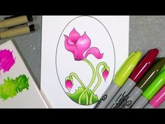 Let's Draw then Color with Cheap Markers {that look expensive!} - The Frugal Crafter