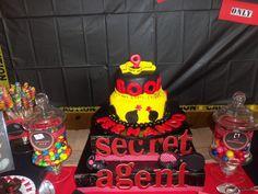Secret Agent Spy Party Cake #spy #cake