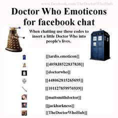 Doctor Who Emoticons for Facebook chat