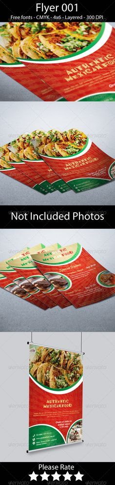 Authentic Mexican Food Flyer — Photoshop PSD #mexico #menu brochure