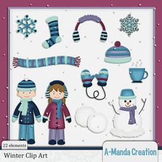 Winter Themed Commercial Use Clip Art