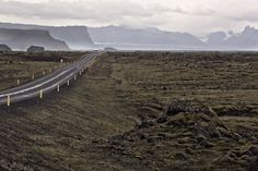 Iceland This stretch of highway in southern Iceland traverses a seemingly endless moorland.