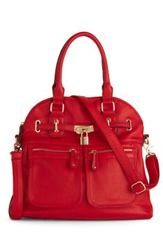 Girl With Curves Bag in Red, #ModCloth