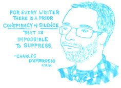 Charles D'Ambrosio at the Brooklyn Public Library, 11/15/14  Comic by Kate Gavino: http://lastnightsreading.tumblr.com/post/102873076733/charles-dambrosio-at-the-brooklyn-public-library