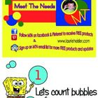 This is a bubbles math learning center.  Includes: *15 Math cards (Numbers1-15) *1 Blank make your own number card * 48 Bubbles  Object of activity...