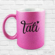 Cool Typography, Mickey Mouse, Glitter, Graphics, Mugs, Tableware, Mug Ideas, Personalized Stationery, Personalized Mugs
