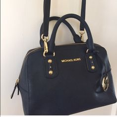 Small Saffiano Michael Kors Purse -- Available! Great condition, lining is clean except one tiny spot pictures. No trades, price is FIRM. Navy Michael Kors Bags Crossbody Bags