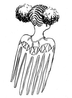 how to draw : afro hair