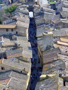 Roofs of San Gimignano, Tuscany, Italy (by Steve Roe)