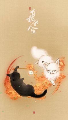 Asian Wallpaper, Kawaii Wallpaper, Wallpaper Iphone Cute, Animes Wallpapers, Cute Wallpapers, Boca Anime, Warrior Cats Art, Fantasy Paintings, China Art
