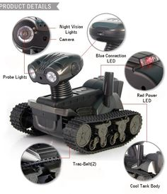 2015 New Arrival Wi-Fi RC Tank with Camera for iOS and Android, 6 LED Spotlight, Video, Photographs and Monitoring Eavesdropping | Newest remote control toys shop
