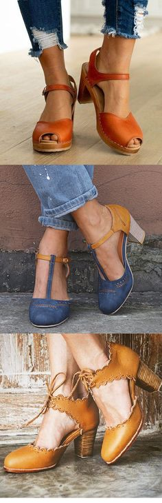 GiftHerShoes offers a wide selection of trendy fashion style women's shoes, clothing. Affordable prices on new shoes, tops, dresses, outerwear and more. Oxford Shoes Heels, Clogs Shoes, New Shoes, Black Planet, Block Sandals, Dream Shoes, Fashion Shoes, Women's Fashion, Brogues