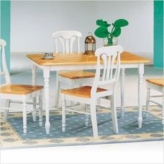 Morrison Rectangular Butcher Block Dining Table in Natural and White by Coaster Home Furnishings. $171.26. 4147 Chairs sold separately Features: -Combination of natural and white finish. -Constructed of wood. -Rectangular butcher block farm house table. -Assembly required. -Overall dimensions: 29'' H x 30'' W x 48'' D. For more information on this product please view the Assembly Manual(s) below: Rectangular Butcher Block Farm Assembly Instruction Sheet