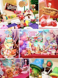 Willy Wonka Candyland themed Birthday Party via Kara's Party Ideas KarasPartyIdeas.com