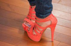 coral heels ah @Brittany Horton Horton Horton Batzlaff can we own these please?