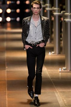 Saint Laurent Spring 2014 Menswear Collection Slideshow on Style.com