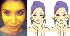 Maschera viso a base di Curcuma per curare Acne, Eczema, Infiammazione e Macchie.
