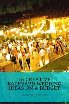 Why not choosing a backyard wedding? When it comes to wedding venues, backyard soirees are the epitome of effortless romance. I mean a backyard wedding. Home Roof Design, Rustic Home Design, Unique House Design, Minimalist House Design, Dream Home Design, Latest House Designs, New Home Designs, Cool House Designs, Interior House Colors