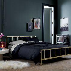 alchemy shiny brass bed   CB2 ($599-699)