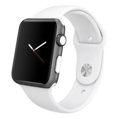 3 sets of WHITE WatchDots™ for Apple Watch digital crown and side button. White WatchDots look great with any band or case color.