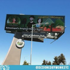 My illustration for General Organics on the billboard in Rohnert Park #designedbymonkeys #hydroponic #follow  #clientwork #hydroponics @generalhydroponics #generalhydroponics #igdaily  Sorry it's kind of a crummy photo -- I didn't realize there was so much interference pattern until I got this back to my office!  #garden #gardening #organicgardening #hydro @deeprootshydro #billboard #illustration #illustrationart #illustrationoftheday #illustrationwork #graphicdesigner #branddesign…