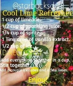 DIY cool lime refresher. I might add a crushed mint leaf or two