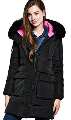 Gnao Men Winter Thicken Faux Fur Collar Warm Hooded Long Down Jacket Outerwear Coat