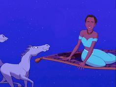 As Jasmine: | Nicolas Cage As Your Favorite Disney Princesses