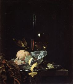 Still Life with Fruit, Glassware, and a Wanli Bowl Artist: Willem Kalf (Dutch, Rotterdam Amsterdam) Date: 1659 Medium: Oil on canvas Dimensions: 23 x 20 in. x cm) Classification: Paintings Credit Line: Maria DeWitt Jesup Fund, 1953 Accession Number: Vanitas Paintings, Old Paintings, Dutch Still Life, Still Life Fruit, Dutch Golden Age, European Paintings, Oil Painting On Canvas, Metropolitan Museum, Art History
