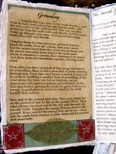 ✯ Grounding :: A Natural Witch- Grimoire of Life and Practice: Altered Art: Book of Shadows ✯
