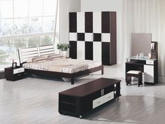 modern bedroom furniture sets photo