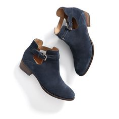 Stitch Fix Summer Styles: Indigo Suede Booties