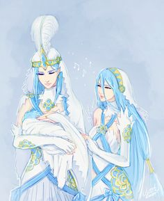 I don't like Azura, but drawings of her with her mom always touch the heart.